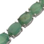 دستبند نقره زمرد سلطنتی بی نظیر زنانه