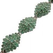 دستبند نقره زمرد اشرفی بی نظیر پرنگین زنانه