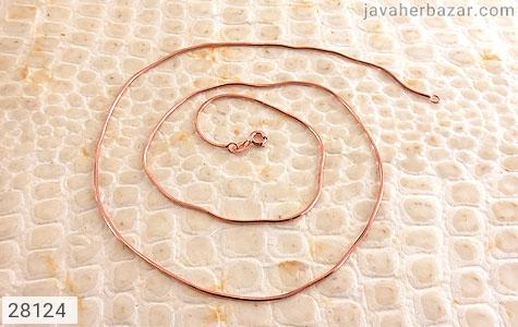عکس زنجیر نقره 50 سانتی زنانه