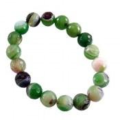 دستبند عقیق سبز طرح شادی زنانه