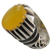 انگشتر نقره عقیق زرد شرف الشمس مردانه