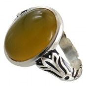 انگشتر نقره عقیق زرد طرح بهرام مردانه