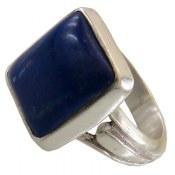 انگشتر نقره لاجورد خوش رنگ مرغوب مردانه