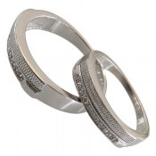حلقه ازدواج نقره طرح محبت
