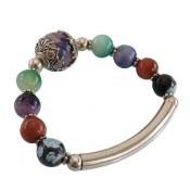 دستبند عقیق طرح شادی زنانه