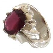 انگشتر نقره یاقوت سرخ شاهانه مرغوب مردانه