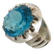انگشتر نقره توپاز مردانه