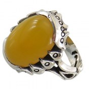 انگشتر نقره عقیق زرد شرف الشمس طرح پاشا مردانه