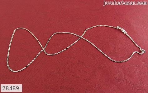 زنجیر نقره 45 سانتی طرح اسپرت 45 سانتی - 28489