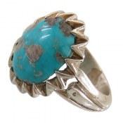 انگشتر نقره فیروزه نیشابوری خوش رنگ مردانه