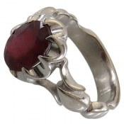 انگشتر نقره یاقوت سرخ خوش رنگ مردانه