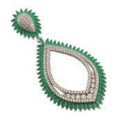 مدال نقره درشت طرح بهار زنانه