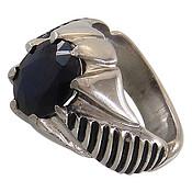 انگشتر نقره یاقوت مردانه