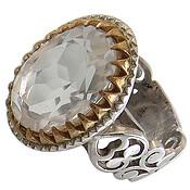 انگشتر نقره در نجف الماس تراش فاخر مردانه