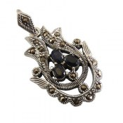 مدال نقره یاقوت کبود طرح شهرزاد زنانه
