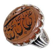 انگشتر نقره عقیق یمن علی مع الحق مردانه