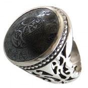 انگشتر نقره حدید صینی چهارده معصوم مردانه