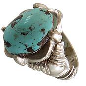 انگشتر نقره فیروزه نیشابوری جذاب مردانه دست ساز