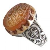 انگشتر نقره عقیق یمن یا ثارالله مردانه