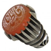 انگشتر نقره عقیق یمن یافاطمه مردانه