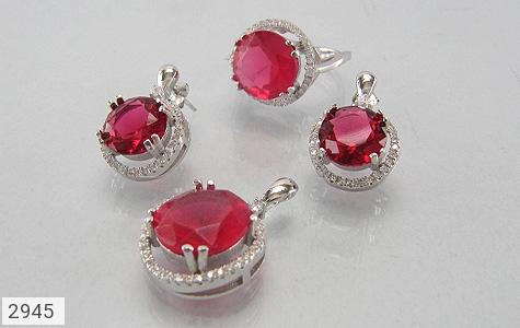 عکس سرویس نقره درشت جواهری زنانه
