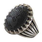 انگشتر نقره حدید صینی یا ضامن آهو مردانه