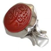 انگشتر نقره عقیق یمن یازینب مردانه دست ساز