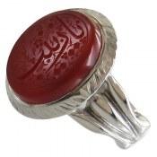 انگشتر نقره عقیق یمن درشت حکاکی یا زینب مردانه