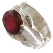 انگشتر نقره یاقوت سرخ شاهانه مردانه