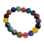 دستبند جید و عقیق و آمتیست رنگارنگ طرح مهرناز زنانه