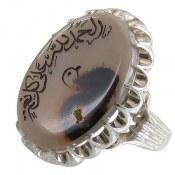 انگشتر نقره عقیق شجر خطی فاخر مردانه