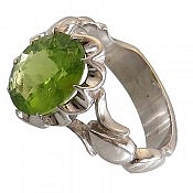 انگشتر نقره زبرجد خوش رنگ و درخشان مردانه