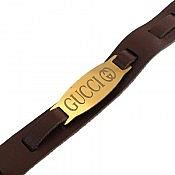 دستبند چرم طبیعی طرح گوچی جذاب و زیبا
