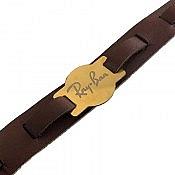 دستبند چرم طبیعی Ray Ban