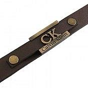 دستبند چرم طبیعی Calvin Klein