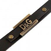 دستبند چرم طبیعی طرح D G