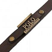دستبند چرم طبیعی طرح polo