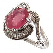 انگشتر نقره یاقوت خوش رنگ و ارزشمند زنانه