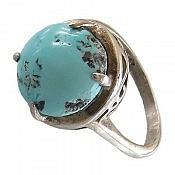 انگشتر نقره فیروزه نیشابوری چهارچنگ ارزشمند زنانه