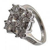 انگشتر نقره سولیتر طرح ملکه زنانه