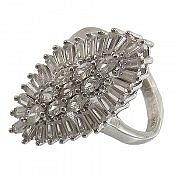 انگشتر نقره سولیتر زنانه