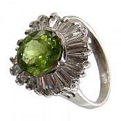 انگشتر نقره زبرجد سبز درخشان و جذاب زنانه