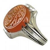 انگشتر نقره عقیق یمن حکاکی یا دائم اللطف مردانه