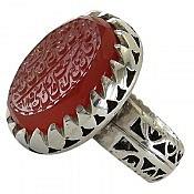 انگشتر نقره عقیق یمن و من یتق الله مردانه