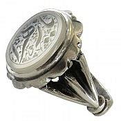 انگشتر نقره عقیق حکاکی یا زهرا مردانه