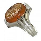 انگشتر نقره عقیق یمن حکاکی یا خدیجه الکبری مردانه