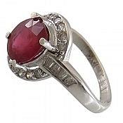 انگشتر نقره یاقوت سرخ جذاب زنانه