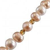 دستبند مروارید و نقره پرنسسی زنانه
