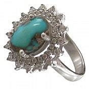 انگشتر نقره فیروزه نیشابوری جذاب زنانه