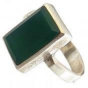 انگشتر نقره عقیق سبز خوش رنگ